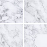 Collection of white marble texture and background. Stock Photo