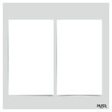 Collection of white papers, ready for your message. Vector illus Royalty Free Stock Images