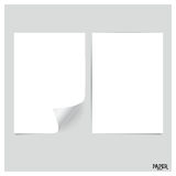 Collection of white papers, ready for your message. Vector illus Stock Photography