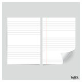 Collection of white papers, ready for your message. Vector illus Stock Photo