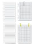 Collection of white papers. Vector illustration. Royalty Free Stock Images