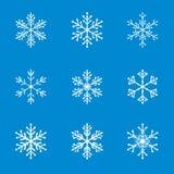 Collection of White Snowflakes. Stock Photos