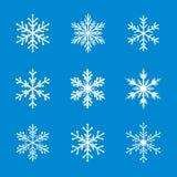 Collection of White Snowflakes. Stock Photo