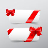 042 Collection of white tag banner with red ribbon vector illust. Collection of white tag banner with red ribbon vector illustration eps10 vector illustration
