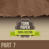 Collection of white torn paper Stock Photography