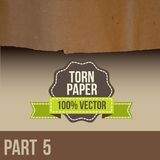 Collection of white torn paper Stock Photo
