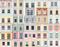 Collection of windows from Telc, Czech Republic Royalty Free Stock Photos