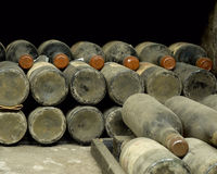 Collection wine. In cellars for judges of a drink Royalty Free Stock Photography