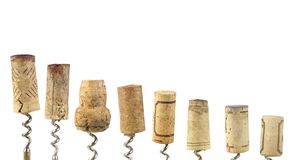 Collection of wine corks Royalty Free Stock Images