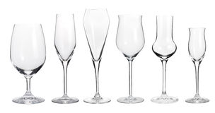 Collection of wineglasses Royalty Free Stock Images