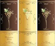 Collection Wines Royalty Free Stock Photography