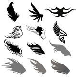 Wing Silhouette Stock Photo