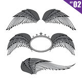 002 Collection of wings design element vector illustration eps10 Royalty Free Stock Images