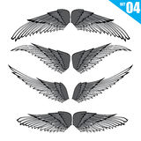 004 Collection of wings design element vector illustration eps10. Collection of wings design element on white background vector illustration eps10 stock illustration