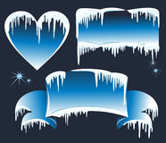 Collection of winter banners. Vector illustration  Royalty Free Stock Images