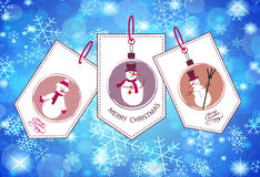 Collection of winter and Christmas labels Royalty Free Stock Image