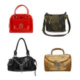 Collection of woman bags Stock Images