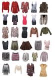 Collection of woman clothing Royalty Free Stock Image