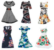 Collection of woman dress Stock Images