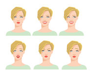 Collection of woman`s emotions. Stock Images