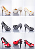 Collection of woman shoes Royalty Free Stock Photo