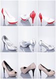 Collection of woman shoes Royalty Free Stock Image