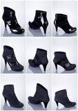 Collection of woman shoes Royalty Free Stock Photography