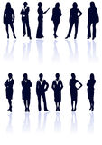 Collection of woman silhouettes. Stock Photo