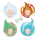 Collection of women depicting the four elements. Collection of beautiful women depicting the four elements Royalty Free Stock Photography