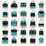 Collection with Women handbags Royalty Free Stock Photography