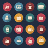 Collection of Women and men bags- illustration Stock Photography