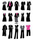 Collection of women's business suits. Office style, dress code, vector illustration Royalty Free Stock Photography
