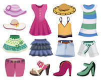 Collection of women's clothing Royalty Free Stock Image