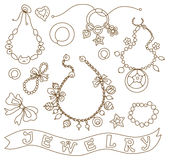 Collection of womens jewelry Royalty Free Stock Photos
