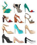 Collection women's shoes. Collection of fashionable women's shoes Royalty Free Stock Photography