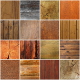 Collection of wood background Royalty Free Stock Images