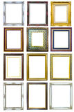 Collection of wood photo image frame royalty free stock photography