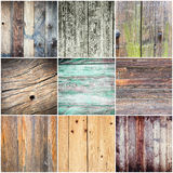 Collection of wood texture - backgrounds Royalty Free Stock Images