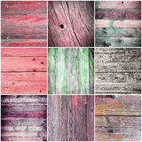 Collection of wood texture - backgrounds Stock Photography