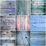 Collection of wood texture - backgrounds Royalty Free Stock Photo