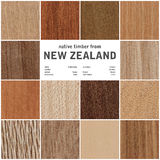 Collection of wood textures. Beautiful abstract wood textures of native timber from New Zealand royalty free stock photo