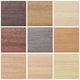 Collection of wood textures Stock Photo
