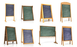 Collection of wooden boards for the menu or training. On a white background Royalty Free Stock Photography