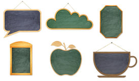 Collection of wooden boards for the Stock Photography