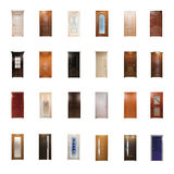 Collection of wooden doors. Isolated Royalty Free Stock Image