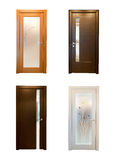 Collection of wooden doors stock photo