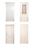Collection of wooden doors stock photography