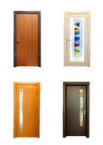 Collection of wooden doors royalty free stock photos