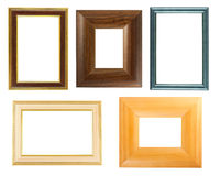 Collection of wooden frames royalty free stock photos