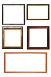 Collection of wooden frames Stock Image